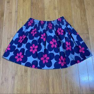 Carter's smocked floral skirt grey 4t